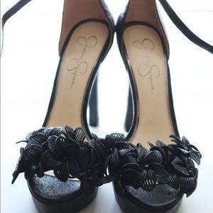 JESSICA SIMPSON Black studded high heel